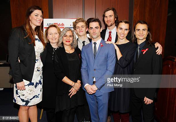Elizabeth Taylor's family members Eliza Carson Kate Burton Laela Wilding Finn McMurray Quinn Tivey Tarquin Wilding Naomi Wilding and Rhys Tivey...