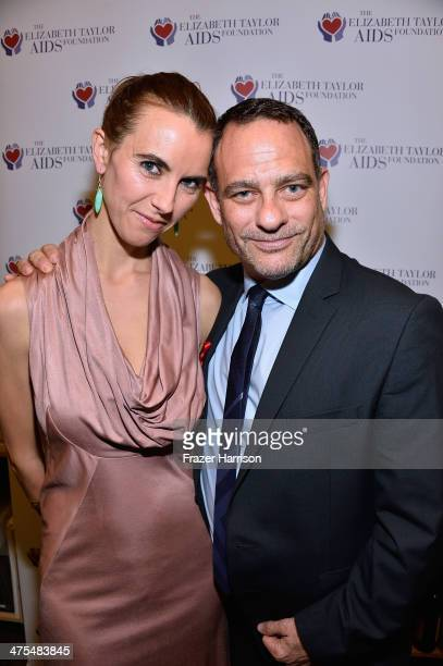 Elizabeth Taylor's granddaughter Naomi Wilding and Joel Goldman attend The Elizabeth Taylor AIDS Foundation Art Auction Benefit Presented By Wilding...