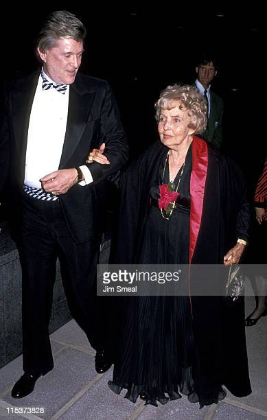 Elizabeth Taylor's Mother and Guest during Tribute to Elizabeth Taylor at Bob Hope Cultural Center in Palm Springs California United States