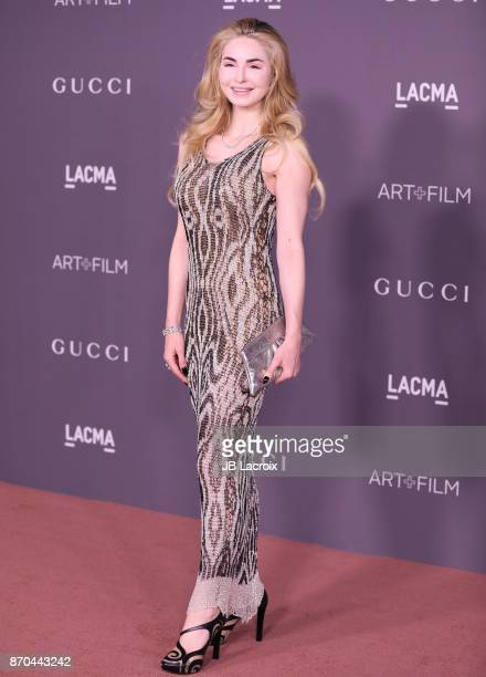 Elizabeth TenHouten attends the 2017 LACMA Art Film Gala Honoring Mark Bradford and George Lucas presented by Gucci at LACMA on November 4 2017 in...