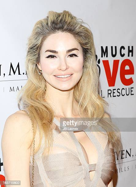 Elizabeth Tenhouten attends the Makeovers For Mutts Fundraiser held at Peninsula Hotel on March 14 2013 in Beverly Hills California