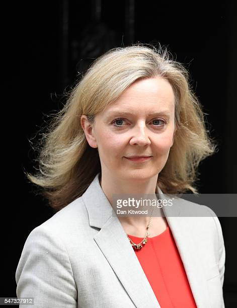 Elizabeth Truss Secretary of State for Environment Food and Rural Affairs leaves Downing Street following a cabinet meeting on June 27 2016 in London...