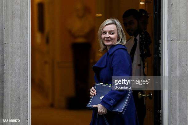 Elizabeth Truss UK justice secretary arrives for a weekly cabinet meeting at 10 Downing Street in London UK on Tuesday Jan 31 2017 Theresa May's...