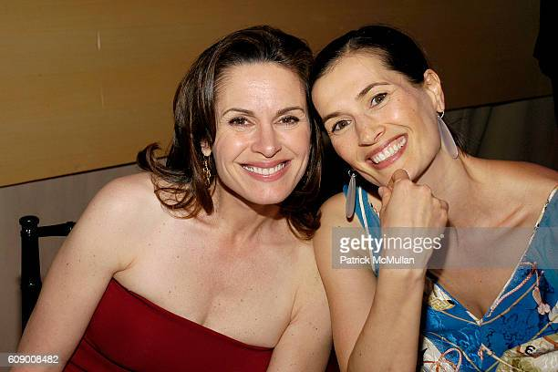 Elizabeth Vargas and Annette Roque Lauer attend TIME Magazine's 100 Most Influential People 2007 at Jazz at Lincoln Center on May 8 2007 in New York...
