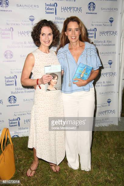 Elizabeth Vargas and Holly Peterson attend Author's Night 2017 to benefit the East Hampton Library on August 12 2017 in East Hampton New York