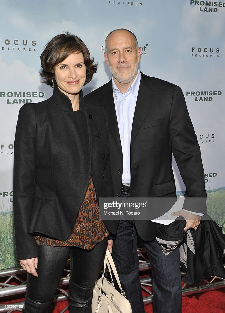 Elizabeth Vargas and Marc Cohn attend the 'Promised Land' premiere at AMC Loews Lincoln Square 13 on December 4, 2012 in New York City.