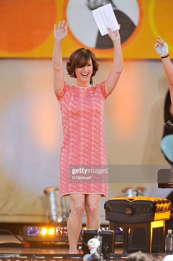 Elizabeth Vargas hosts ABC's 'Good Morning America' at Rumsey Playfield on June 21, 2013 in New York City.