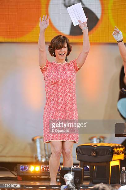 Elizabeth Vargas hosts ABC's 'Good Morning America' at Rumsey Playfield on June 21 2013 in New York City
