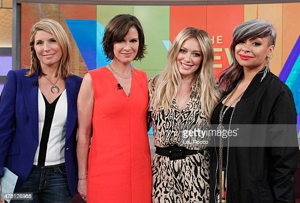 THE VIEW Elizabeth Vargas joins the cohosts and Hilary Duff performs on THE VIEW airing Friday June 19 airing on the Walt Disney Television via Getty...