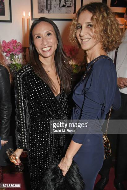 Elizabeth von der Goltz Global Buying Director NETAPORTER and Veronica Bertozzi attend a private dinner hosted by NETAPORTER and Stella McCartney to...