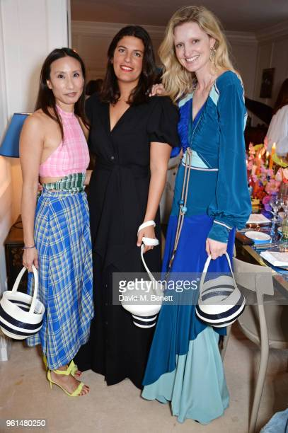 Elizabeth von der Goltz Rosie Assoulin and Candice Lake attend the NETAPORTER dinner hosted by Alison Loehnis to celebrate the launch of Rosie...