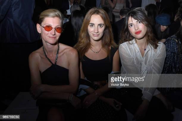 Elizabeth Von Guttman Alexia Niedzielski and Jeanne Dumas attend the Christian Dior Haute Couture Fall Winter 2018/2019 show as part of Paris Fashion...
