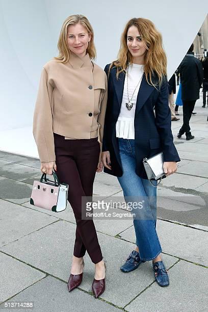 Elizabeth von Guttman and Alexia Niedzielski attend the Christian Dior show as part of the Paris Fashion Week Womenswear Fall/Winter 2016/2017 on...
