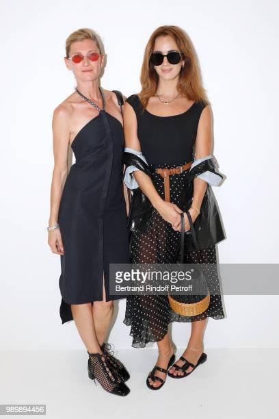 Elizabeth von Guttman and Alexia Niedzielski attend the Christian Dior Haute Couture Fall Winter 2018/2019 show as part of Paris Fashion Week on July...