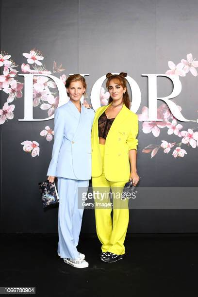 Elizabeth von Guttman and Alexia Niedzielski attend the photocall at the Dior Pre Fall 2019 Men's Collection on November 30, 2018 in Tokyo, Japan.