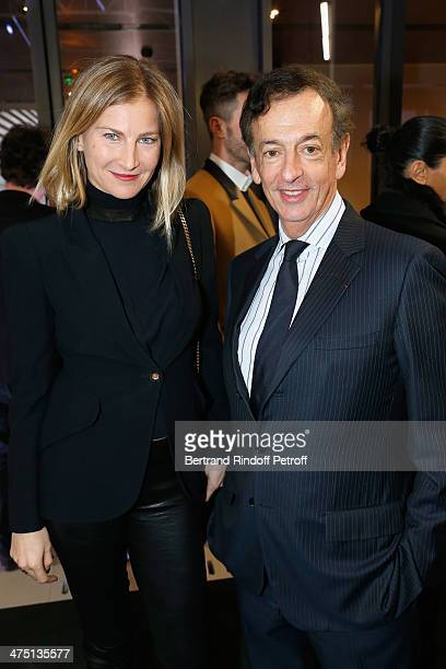 Elizabeth von Guttman and JeanPaul Claverie attend LVMH Prize SemiFinalists Designers Cocktail Party on February 26 2014 in Paris France