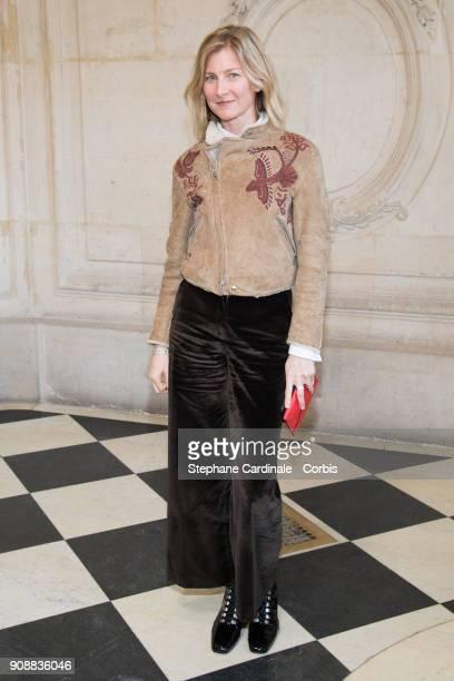 Elizabeth von Guttman attends the Christian Dior Haute Couture Spring Summer 2018 show as part of Paris Fashion Week January 22 2018 in Paris France