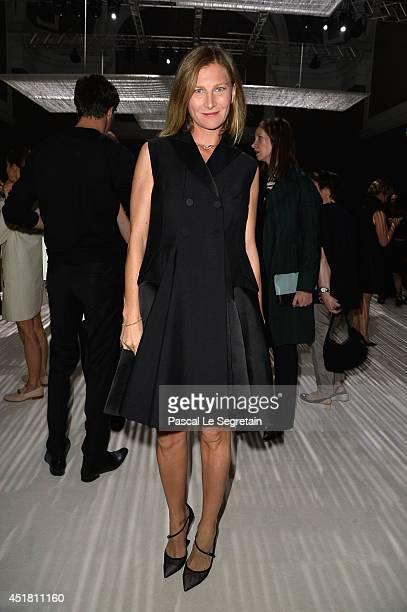 Elizabeth Von Guttman attends the Giambattista Valli show as part of Paris Fashion Week - Haute Couture Fall/Winter 2014-2015on July 7, 2014 in...