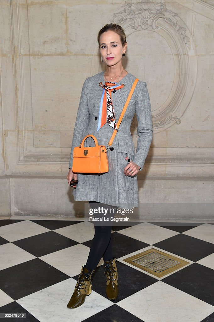 Elizabeth Von Thurn Und Taxis attends the Christian Dior Haute Couture Spring Summer 2017 show as part of Paris Fashion Week on January 23, 2017 in Paris, France.