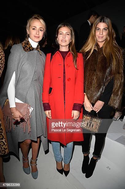 Elizabeth von Thurn und Taxis Dasha Zoukova and Bianca Brandolini attend the Valentino show as part of the Paris Fashion Week Womenswear Fall/Winter...