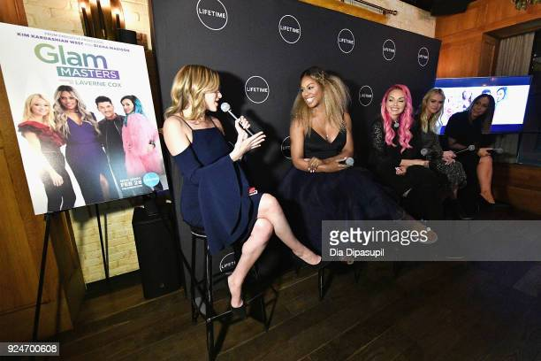 Elizabeth Wagmeister Laverne Cox Kandee Johnson Zanna Roberts Rassi and Diana Madison speak on a panel at the exclusive premiere event of Lifetime's...