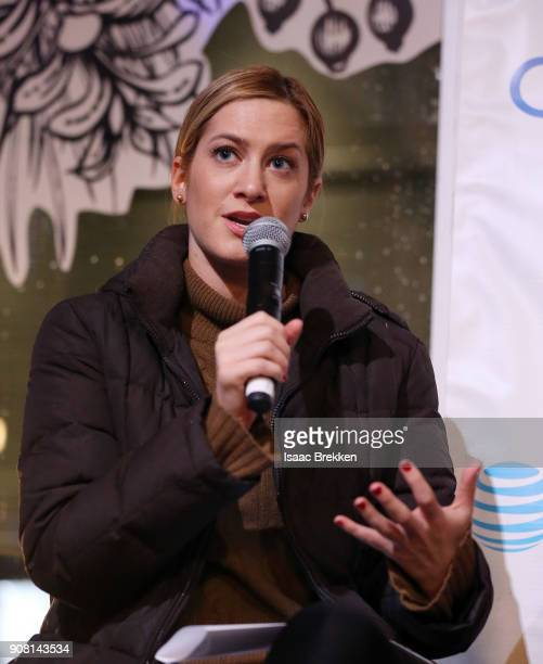 Elizabeth Wagmeister moderates a panel at the second annual Cocktails and Conversation event presented by the Bentonville Film Festival and Google at...