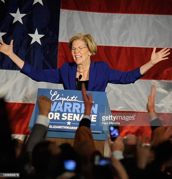 Elizabeth Warren attends her Campaign Election Night event at Fairmont Copley Plaza on November 6 2012 in Boston Massachusetts