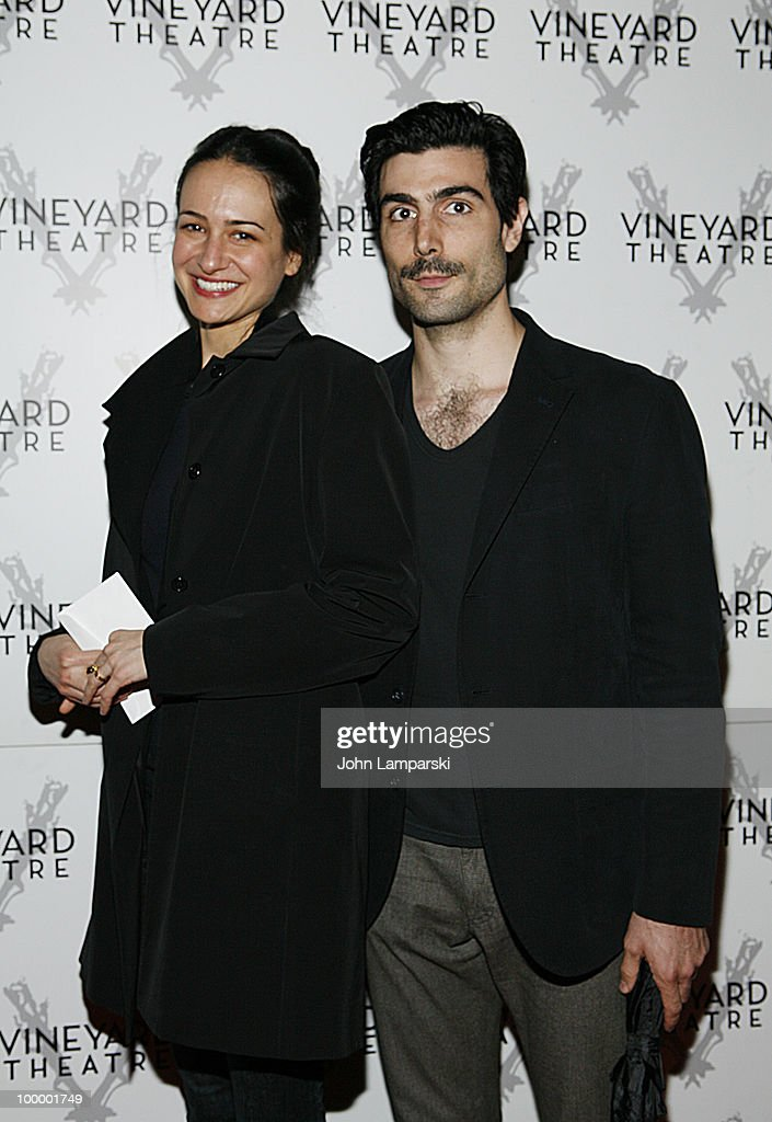 Elizabeth Waterston and Lou Cancimi attend the opening night of 'The Metal Children' at the Vineyard Theatre on May 19, 2010 in New York City.