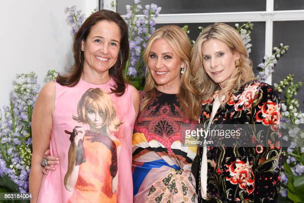 Elizabeth Wiatt and Laurie Feltheimer attend VIP Conversation for Women's Brain Health Initiative Hosted by Sharon Stone at Gagosian Gallery on...