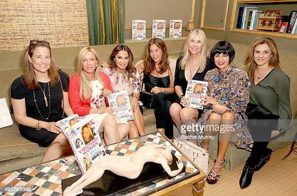 Elizabeth Wiatt Lauren King Author Angella Nazarian Lyndie Benson Irena Medavoy and Larissa Sabadash attend author Angella Nazarian's launch party...