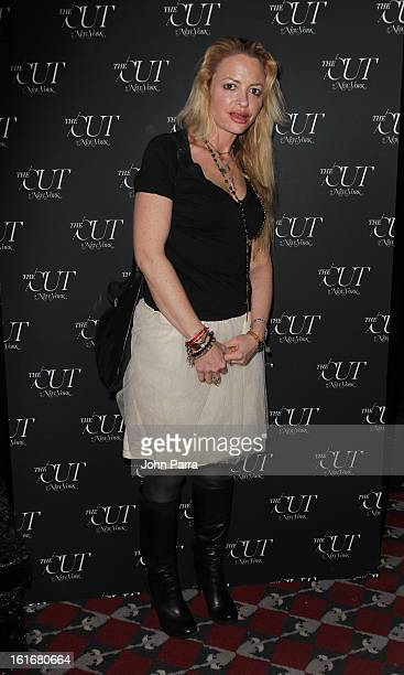Elizabeth Wurtzel attends The Cut Fashion Week Event Hosted By Larry Burstein And Stella Bugbee at Le Baron on February 13 2013 in New York City