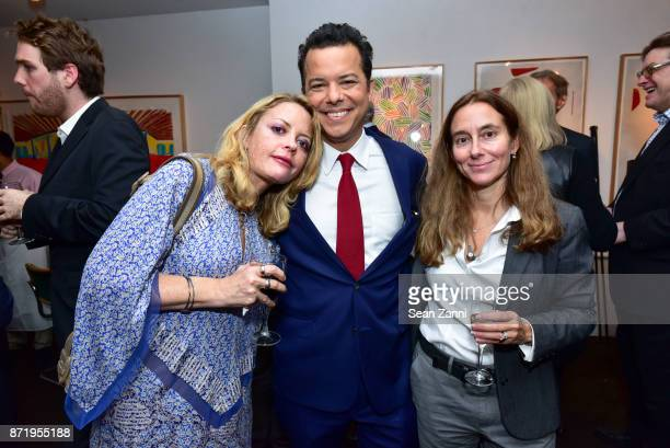 Elizabeth Wurtzel John Avalon and Roberta Brzezinski attend Tina Brown's publication party for The Vanity Fair Diaries at Michael's on November 8...