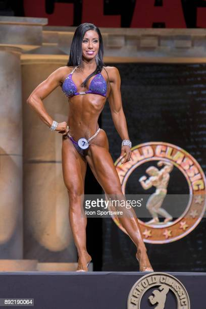 Elizabeth Yisrael competes in Bikini International as part of the Arnold Sports Festival on March 4 at the Greater Columbus Convention Center in...