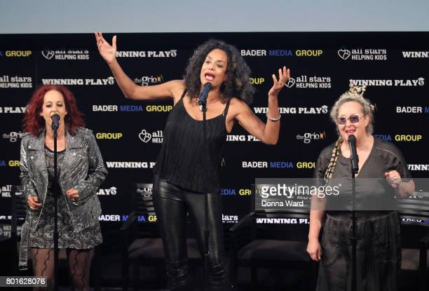 Elizabeth Ziff Alyson Palmer and Amy Ziff of BETTY attend the Winning Play$ Black Women Feminism Empowerment panel at The Paley Center for Media on...