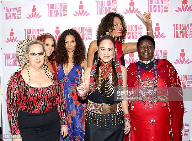 Elizabeth Ziff Amy Ziff Thandie Newton Monique Wilson Alyson Palmer and Agnes Pareyo attend the 3rd Annual One Billion Rising REVOLUTION at...