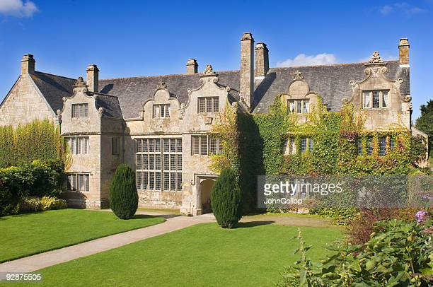elizabethan mansion - cornwall england stock pictures, royalty-free photos & images