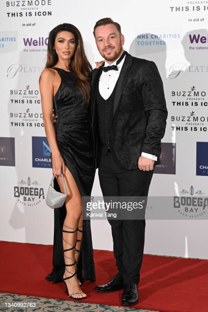 Elizabeth-Jayne Tierney and Jamie O'Hara attend The Icon Ball 2021 during London Fashion Week September 2021 at The Landmark Hotel on September 17,...