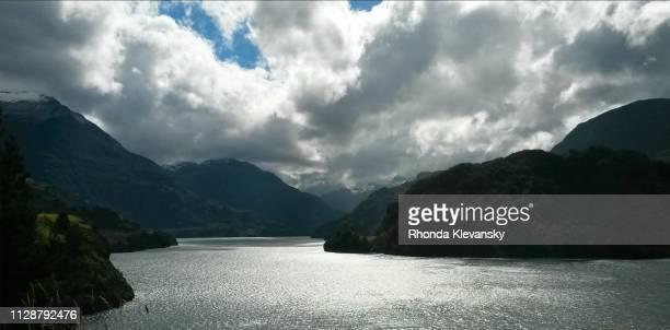 elizalde lake, lago elizalde, chile - rhonda klevansky stock pictures, royalty-free photos & images