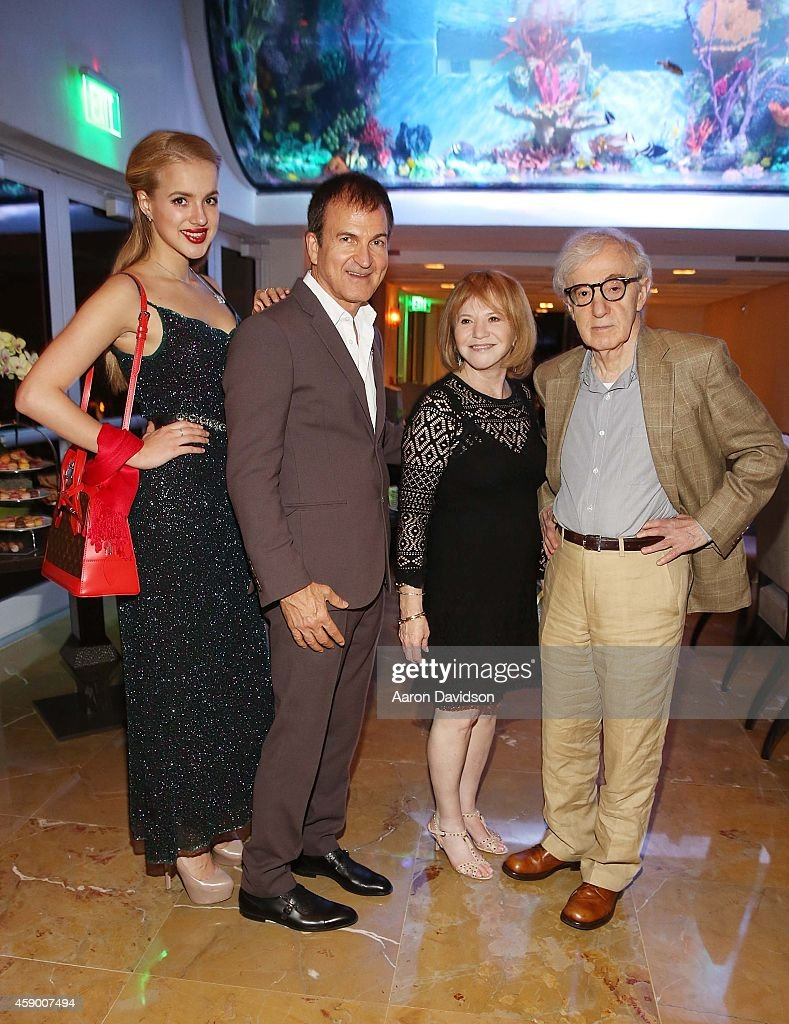 Elizaveta Edward Walson Letty Aronson And Woody Allen Attends Film Producer Walsons Royal