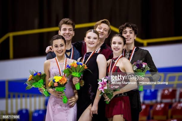 Elizaveta Khudaiberdieva and Nikita Nazarov of Russia Anastasia Skoptcova and Kirill Aleshin of Russia Caroline Green and Gordon Green of the United...