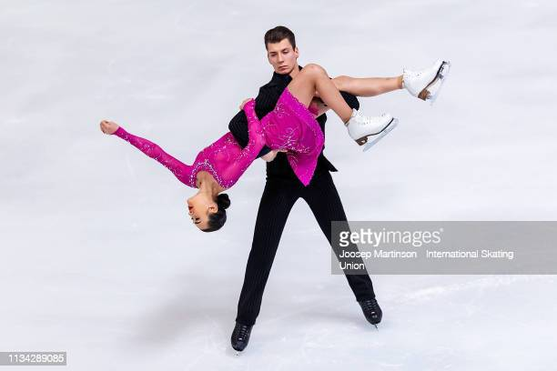 Elizaveta Khudaiberdieva and Nikita Nazarov of Russia compete in the Junior Ice Dance Rhythm Dance during day 2 of the ISU World Junior Figure...