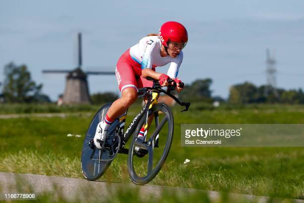 Elizaveta Oshurkova of Russia / during the 25th UEC Road European Championships 2019 - Elite Women's Time Trial a 22,4km Individual Time Trial race...