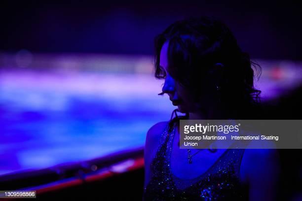 Elizaveta Tuktamysheva of FSR looks on ahead of the Gala Exhibition during day five of the ISU World Figure Skating Championships at Ericsson Globe...