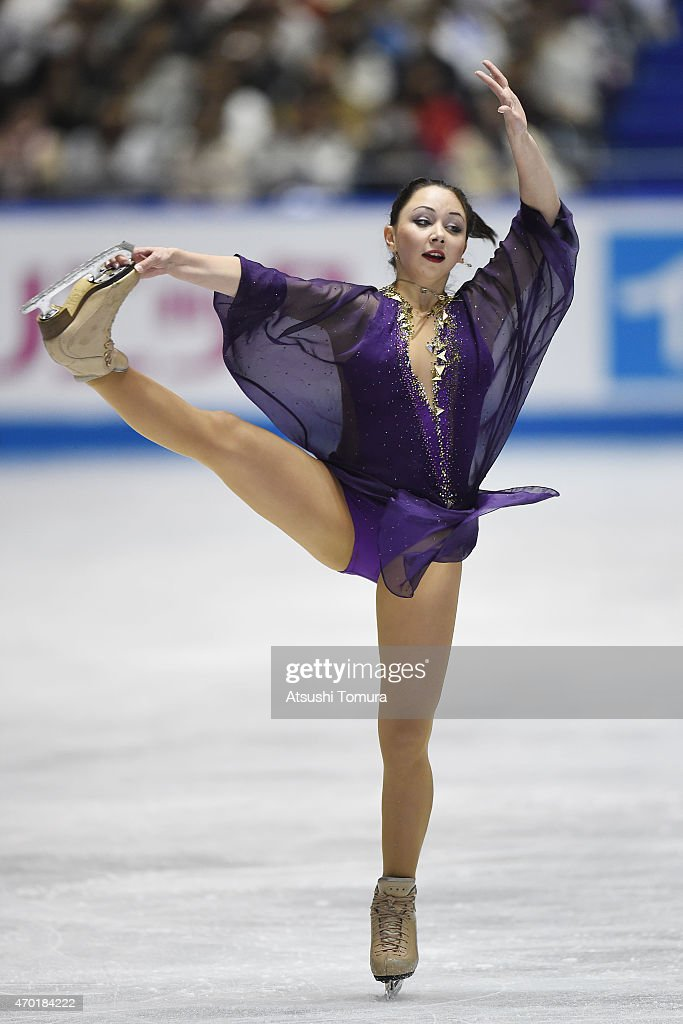 Elizaveta Tuktamysheva of Russia competes in the ladies free skating during the day three of the ISU World Team Trophy at Yoyogi National Gymnasium on April 18, 2015 in Tokyo, Japan.