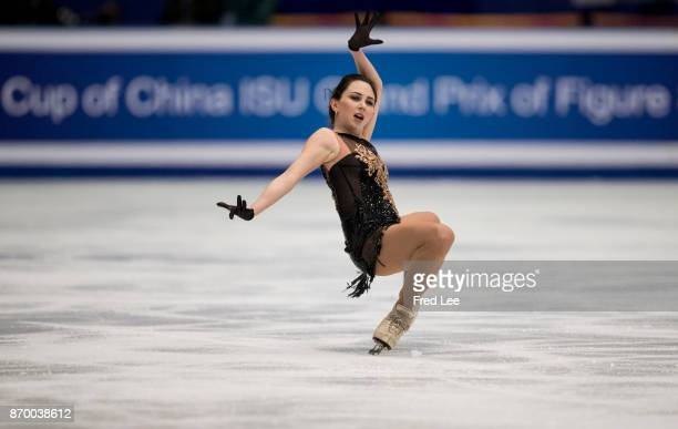 Elizaveta Tuktamysheva of Russia competes in the Ladies Free Skating on day two of Audi Cup of China ISU Grand Prix of Figure Skating 2017 at Beijing...