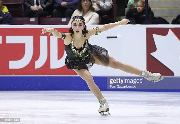 Elizaveta Tuktamysheva of Russia competes in the Women's Singles Free Program during day two of the 2016 Skate Canada International at Hershey Centre...