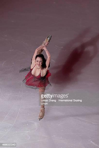 Elizaveta Tuktamysheva of Russia perform during the Exhibition Program on day five of the 2015 ISU World Figure Skating Championships at Shanghai...