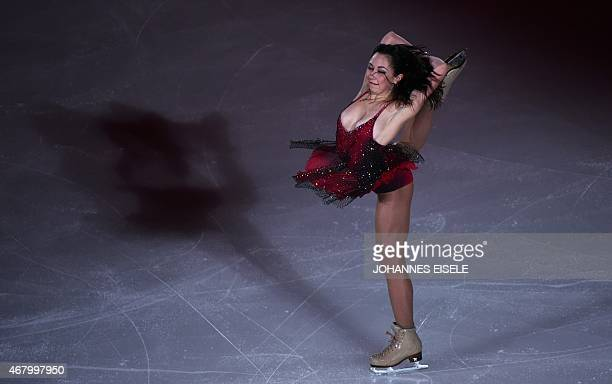 Elizaveta Tuktamysheva of Russia performs during the exhibition show of the 2015 ISU World Figure Skating Championships at Shanghai Oriental Sports...