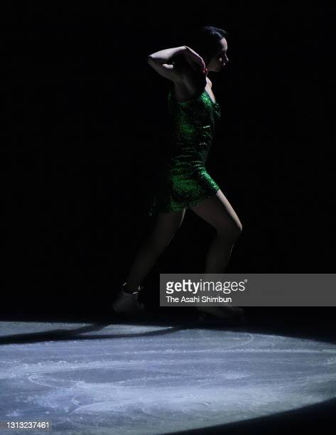 Elizaveta Tuktamysheva of Russia performs during the gala exhibition of the ISU World Team Trophy at Maruzen Intec Arena Osaka on April 18, 2021 in...
