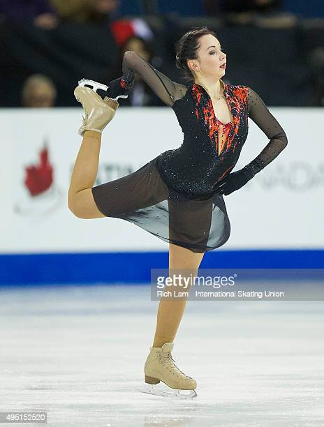 Elizaveta Tuktamysheva of Russia skates in the Ladies Free Skate on day two of Skate Canada International ISU Grand Prix of Figure Skating October...